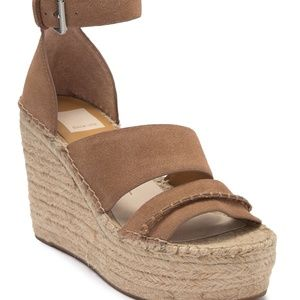 Dolce Vita Simi Suede Ankle Strap Wedge Sandal